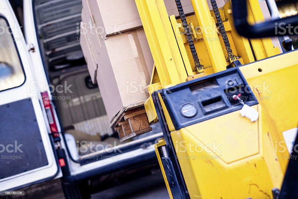 Loading truck royalty-free stock photo