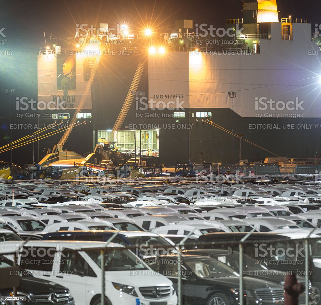 Loading Vehicle Carrier stock photo