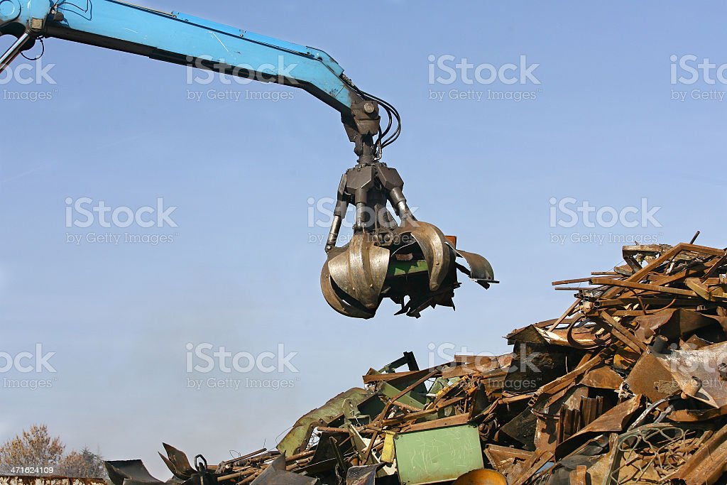 Loads of metal waste on the junkyard royalty-free stock photo