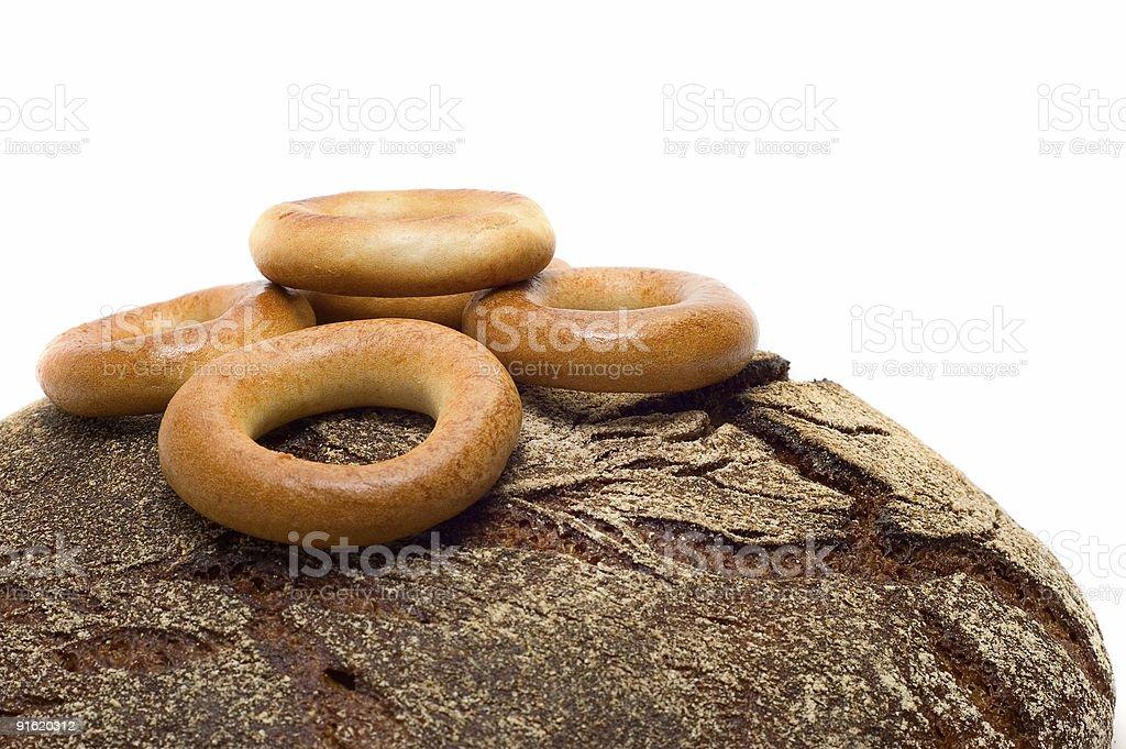 Pain pain et anneau photo libre de droits