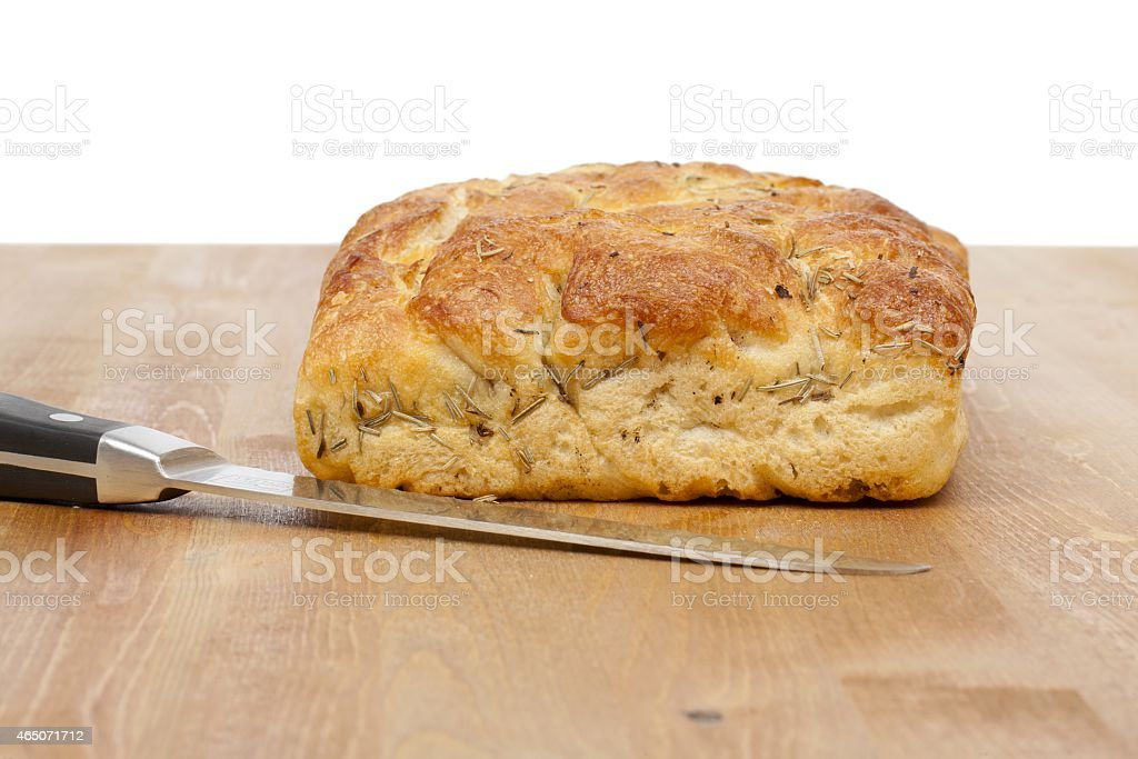 loaf and knife stock photo