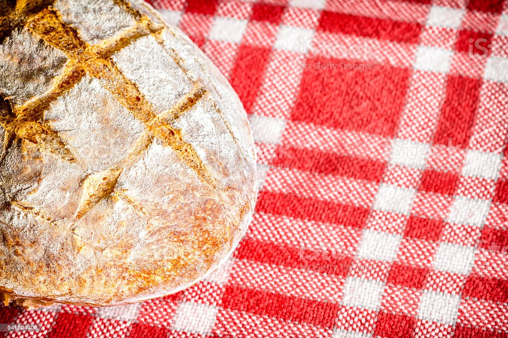Loaf of bread homemade french specialty close-up stock photo