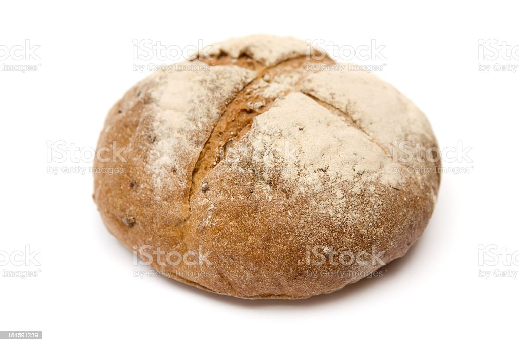 Loaf of bread isolated on a white background stock photo