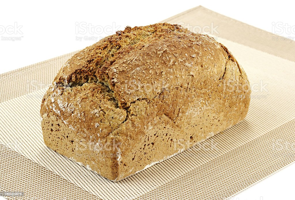 loaf of bread on a white background royalty-free stock photo