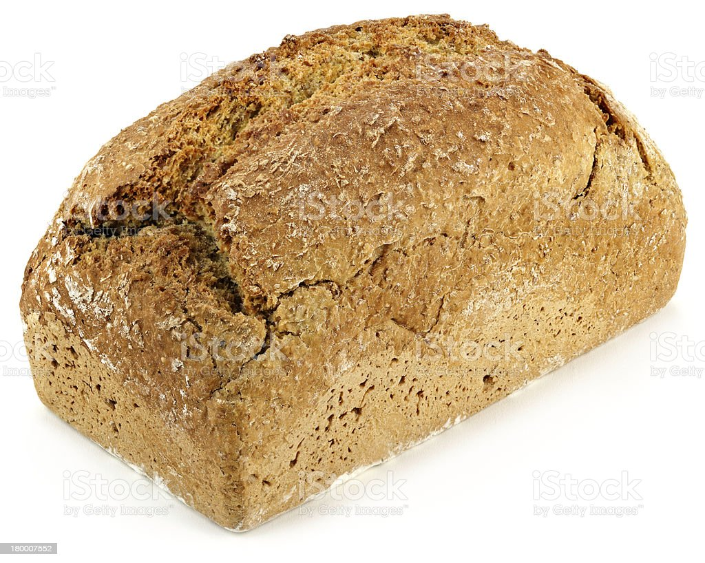 loaf of bread on a white table royalty-free stock photo