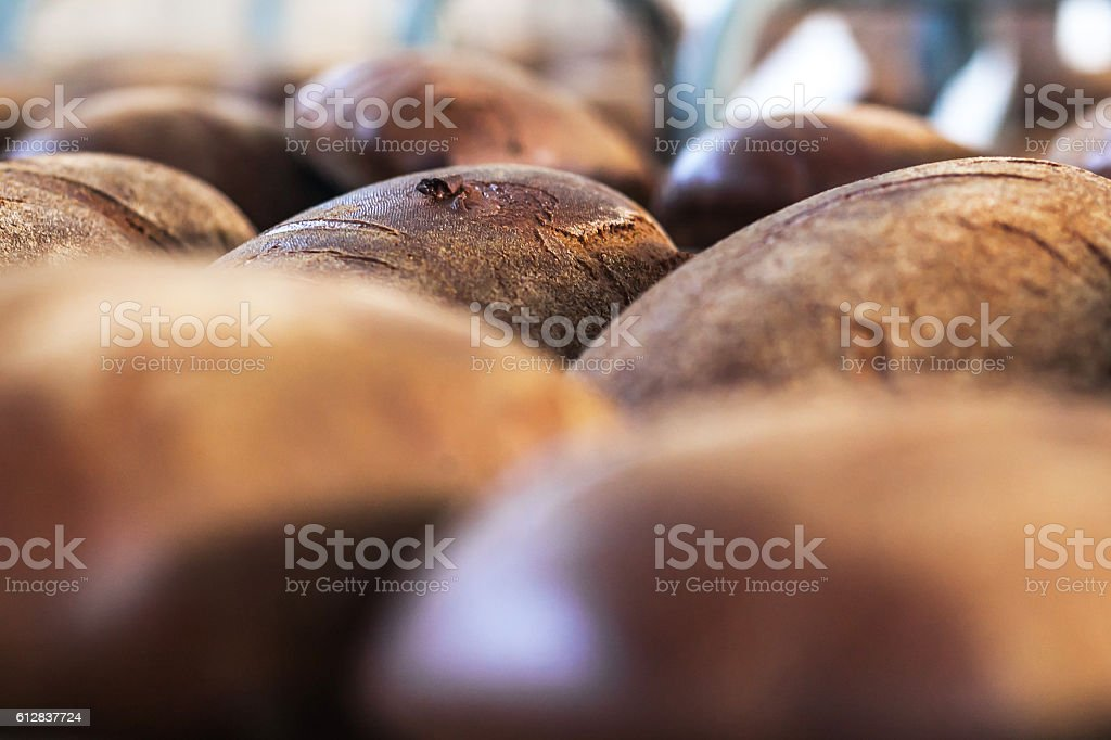 loaf of bread on the shelf for bread factory royalty-free stock photo