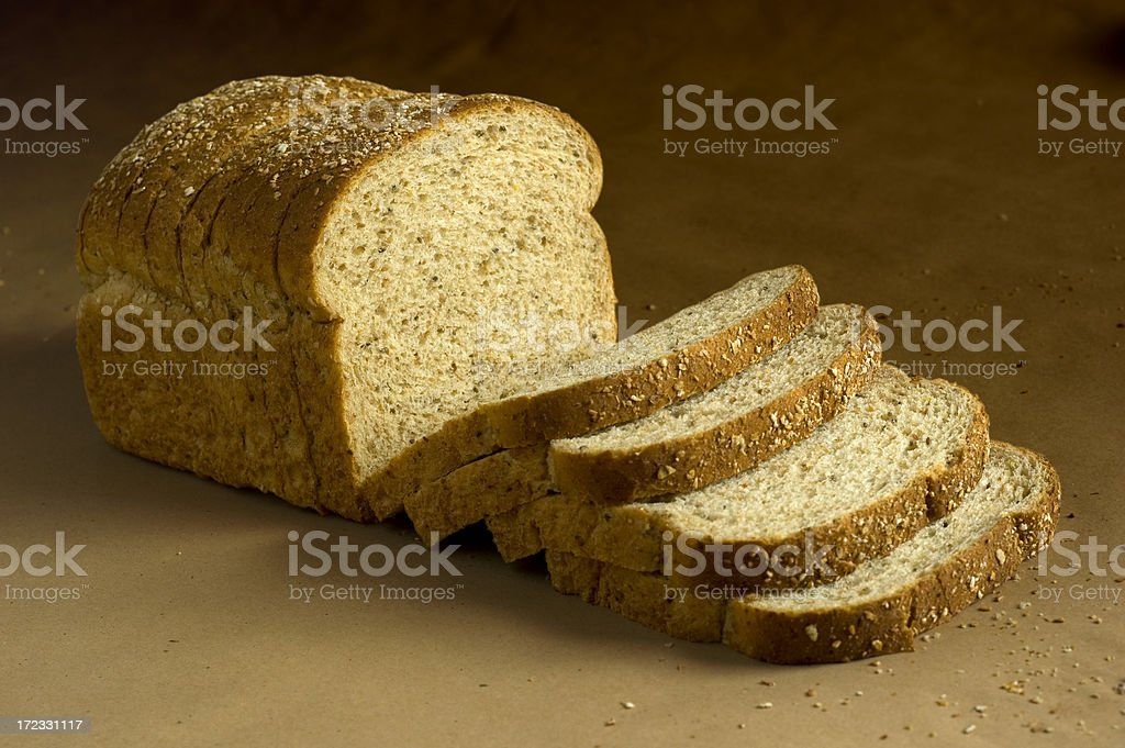Loaf of Brown Bread w/Clipping path stock photo