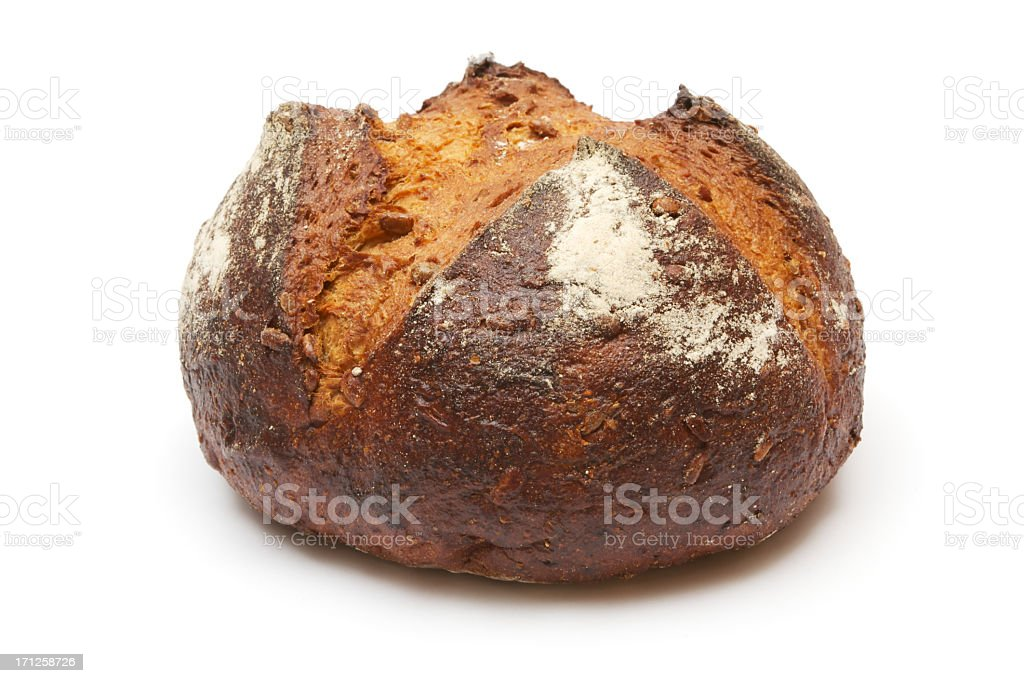 Loaf of Dark Brown Bread royalty-free stock photo