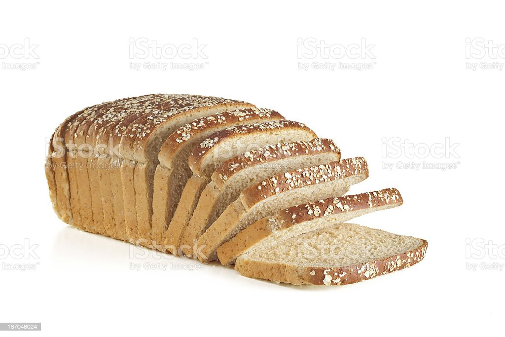 Loaf of multi-grain bread royalty-free stock photo