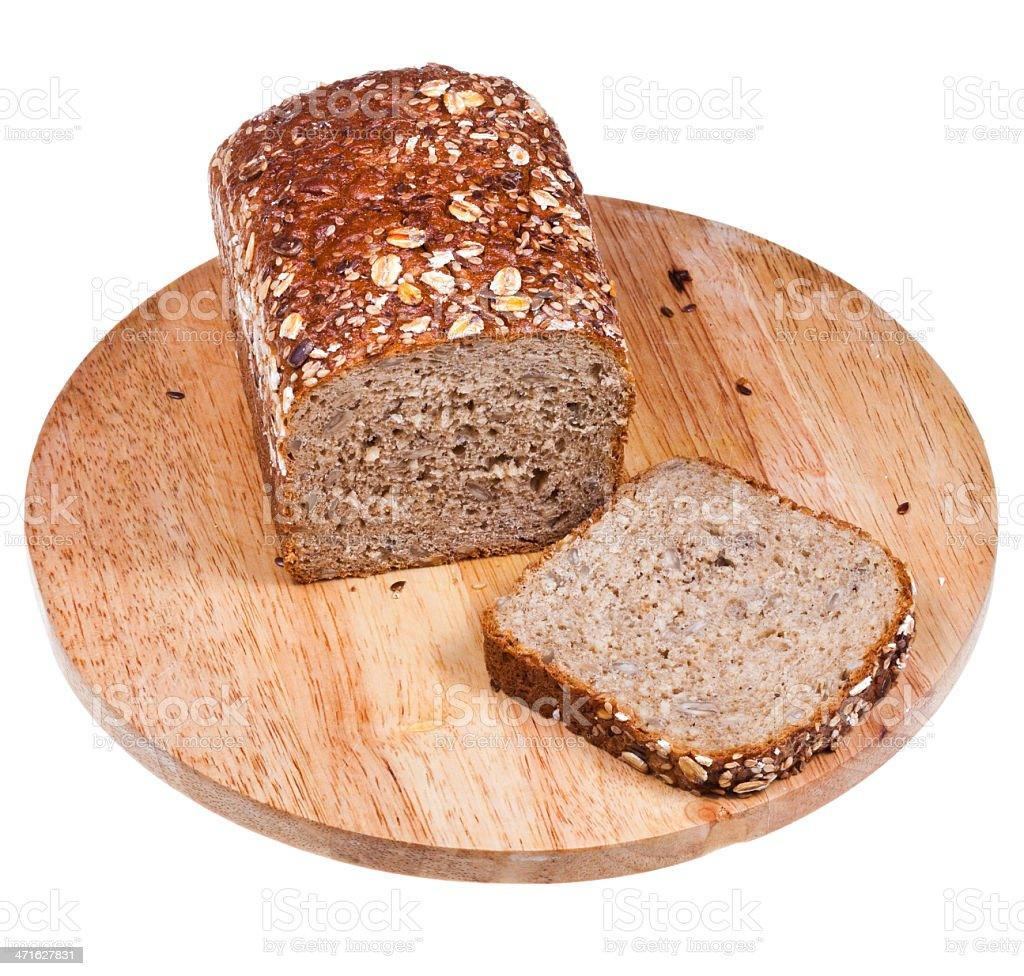 loaf of multigrain bread royalty-free stock photo