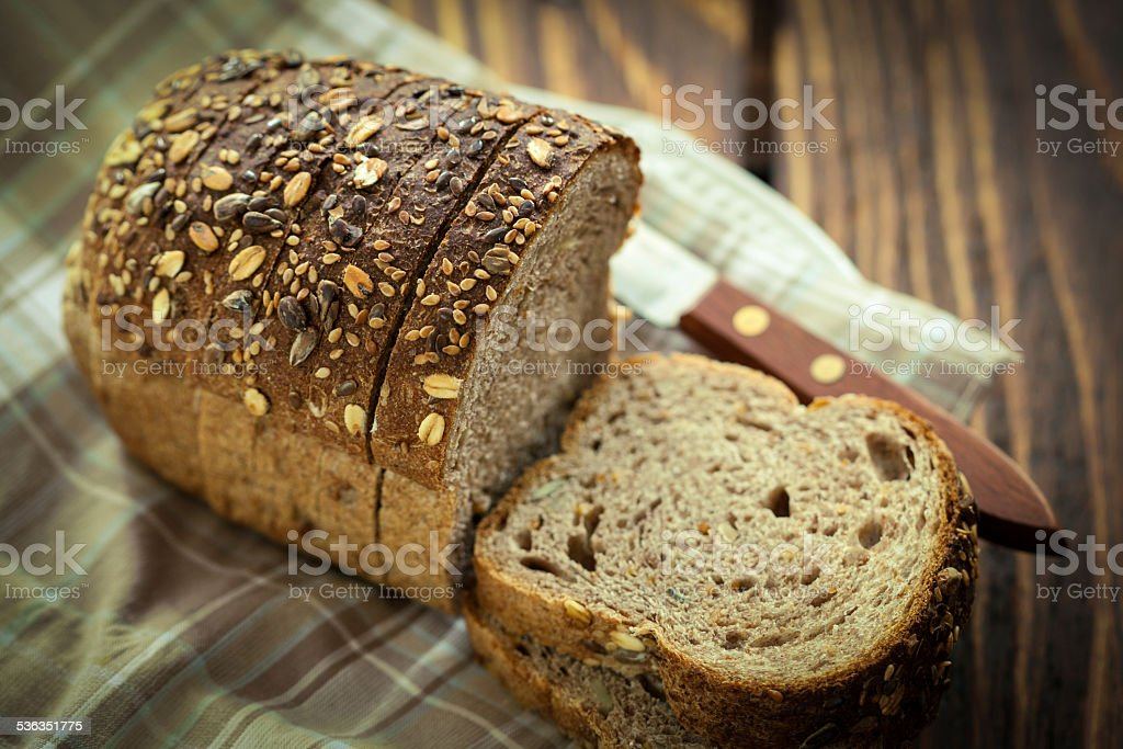 Loaf of Multigrain Bread stock photo