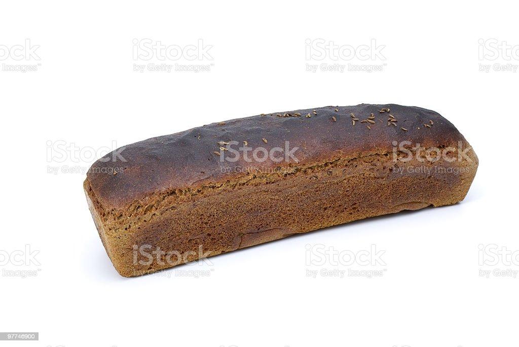 Bocado de pão de centeio com Anis foto de stock royalty-free