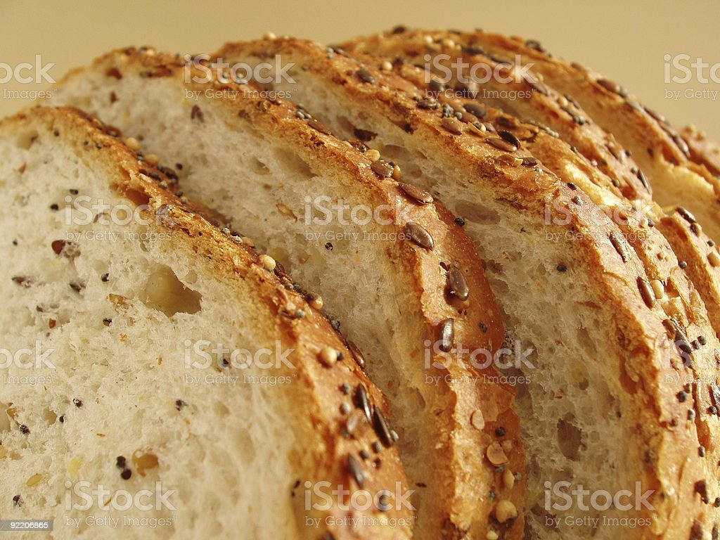 Loaf of seeded bread stock photo