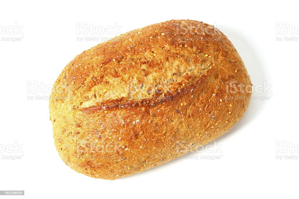 Loaf of Whole Grain Bread royalty-free stock photo