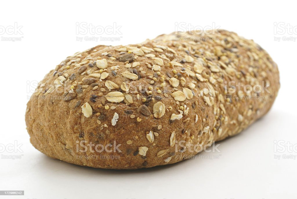 loaf of whole wheat bread royalty-free stock photo