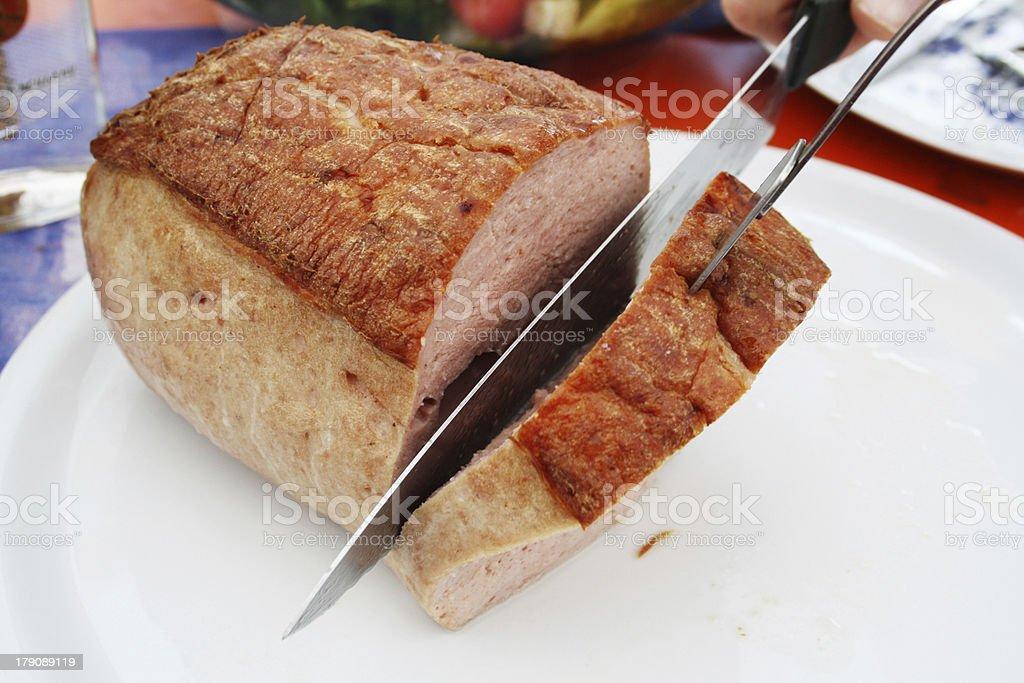 Loaf sliced stock photo