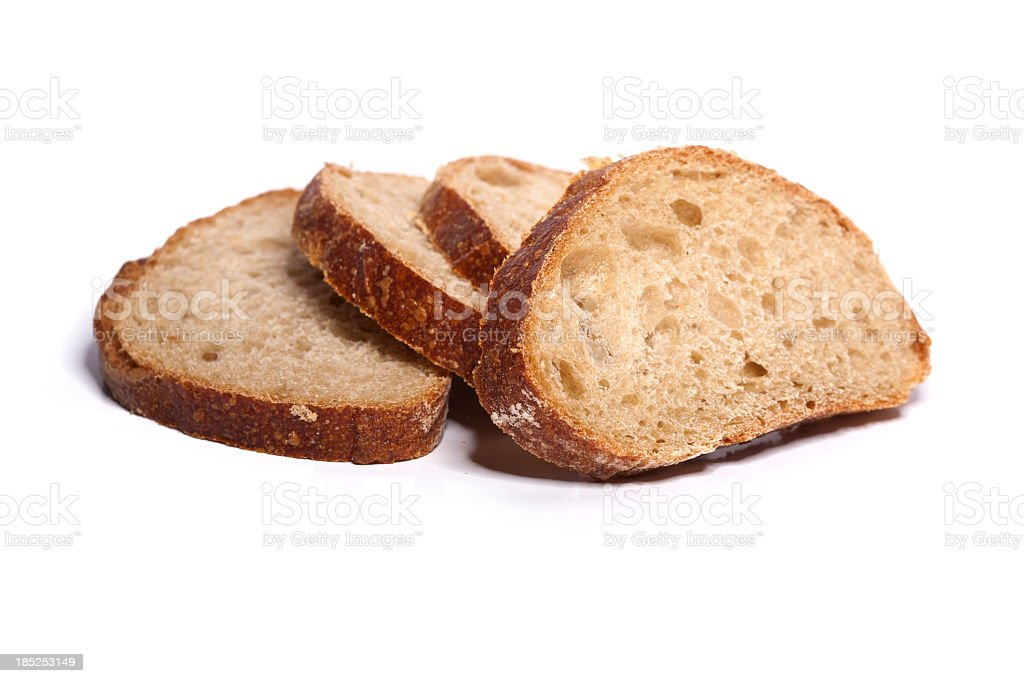 Loafs of bread on white background stock photo
