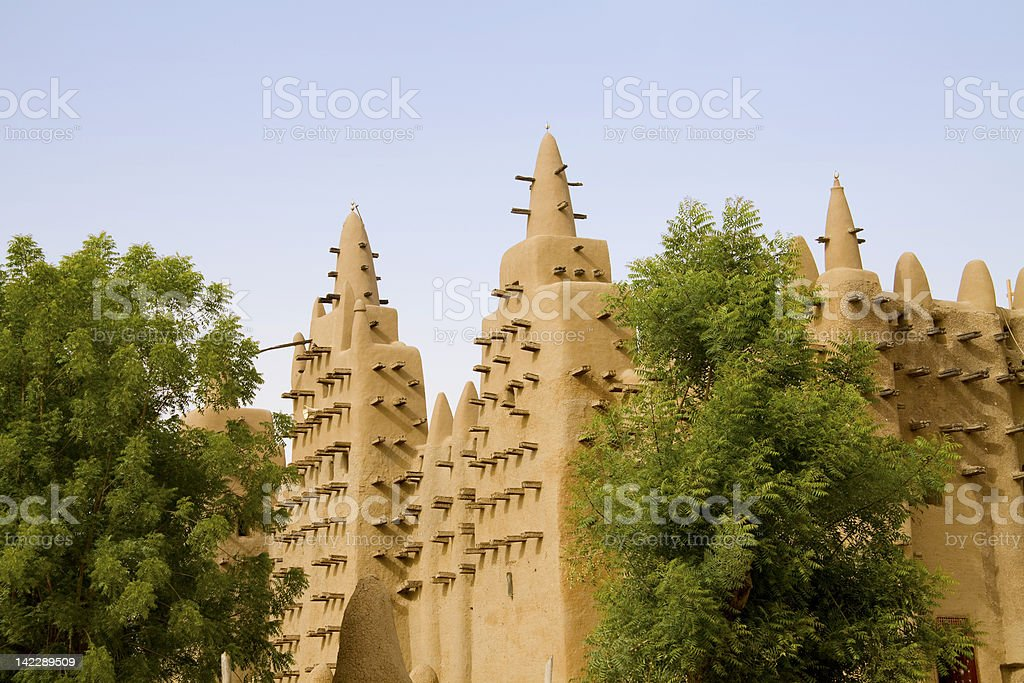 Loam mosque in Djenne royalty-free stock photo