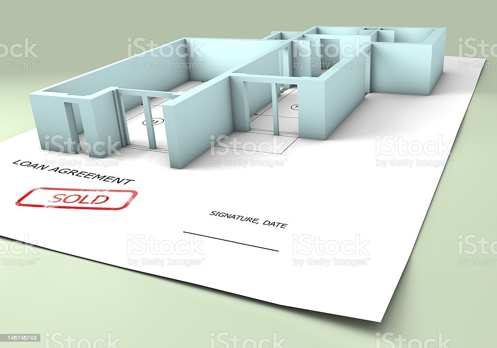 Loan agreement - apartment royalty-free stock photo