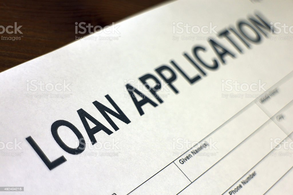 Loan Application Form close-up stock photo