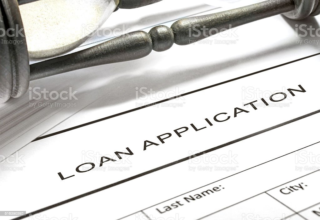 Loan application form stock photo