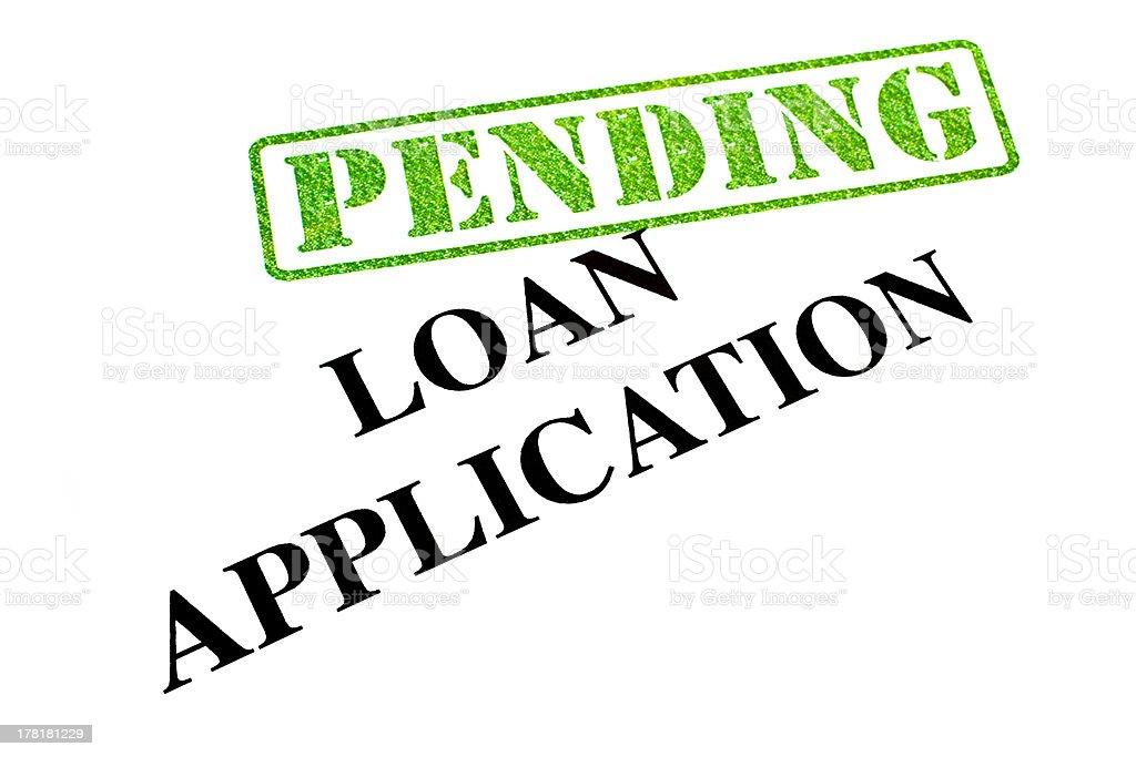 Loan Application PENDING stock photo