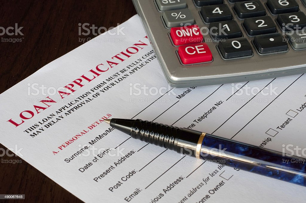 Loan Application stock photo