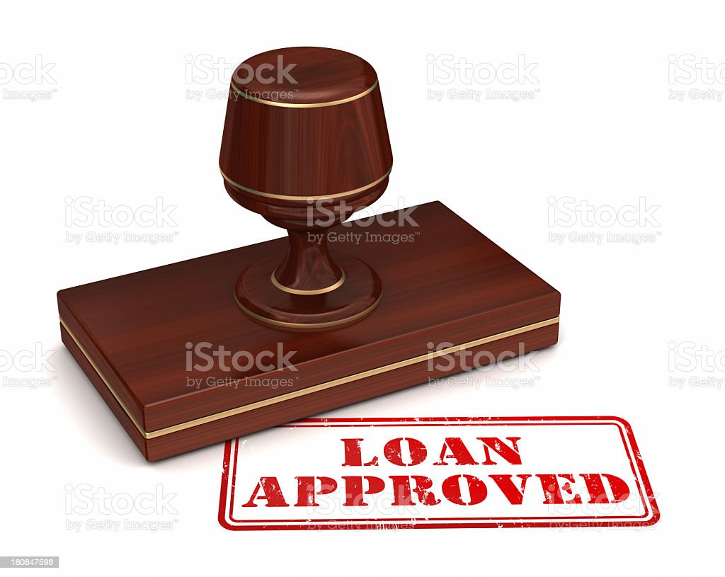 Loan Approved Rubber Stamp royalty-free stock photo