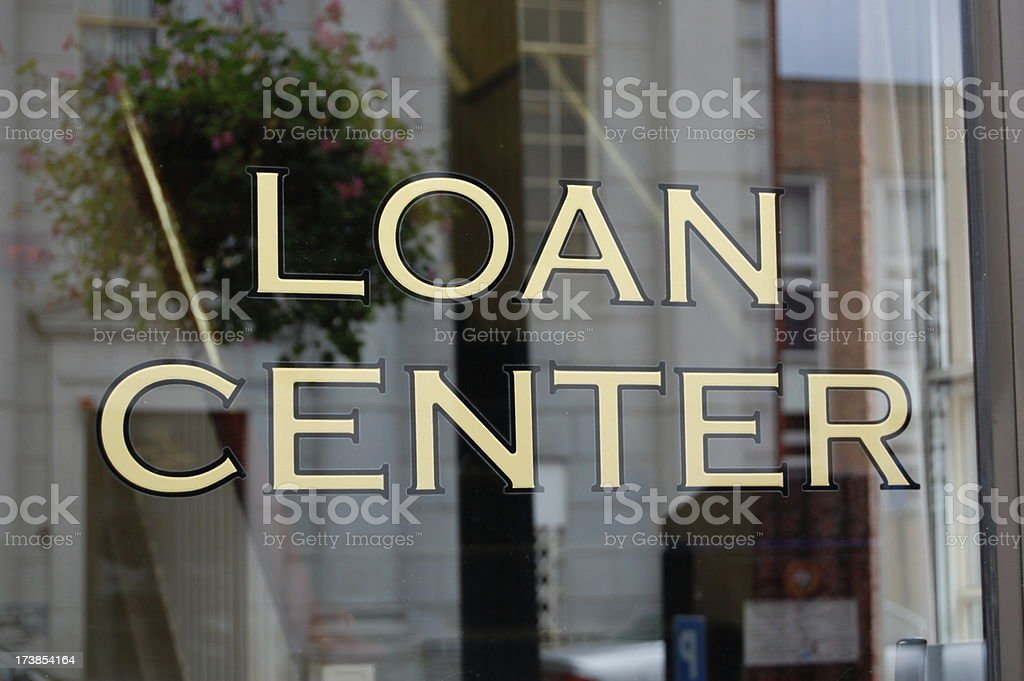 Loan Center royalty-free stock photo