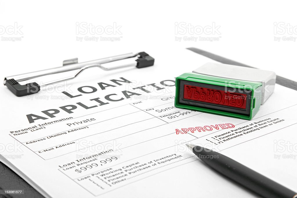 loan contract approved stock photo