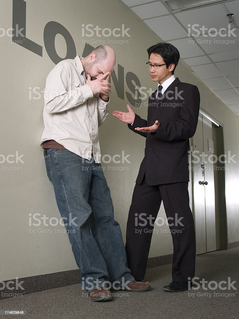 Loan declined stock photo