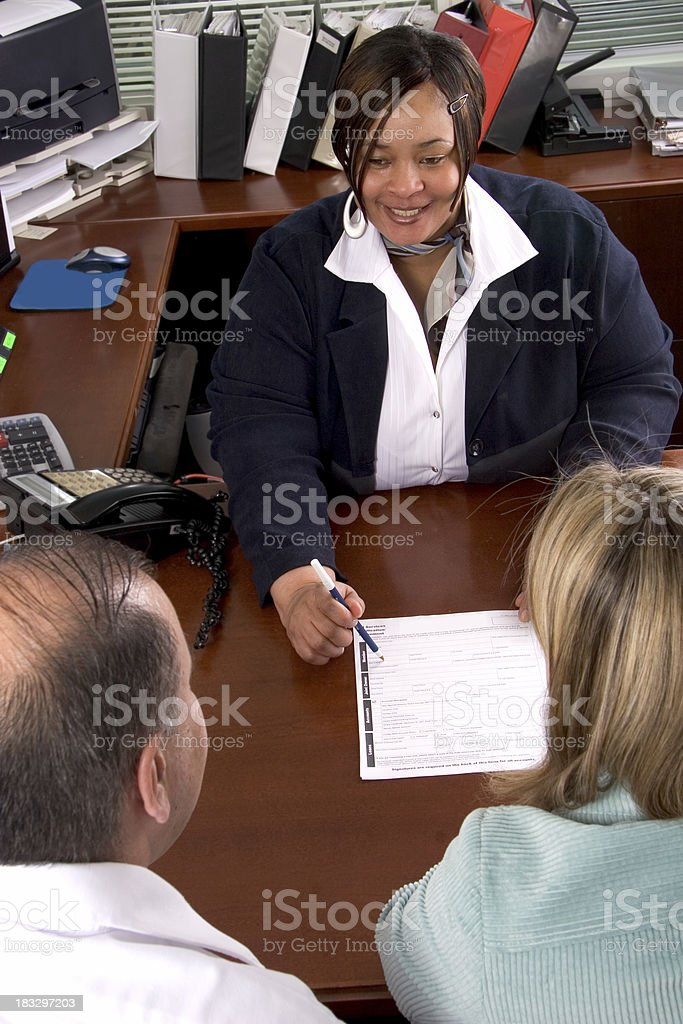 Loan Meeting stock photo