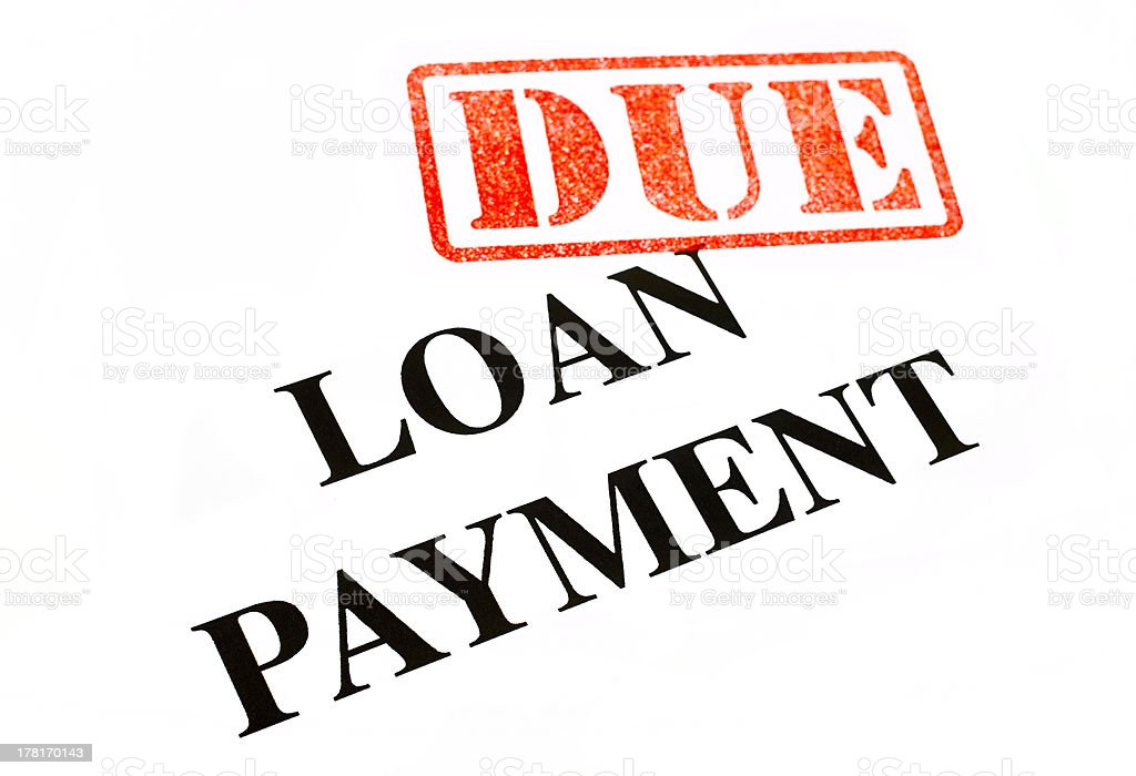 Loan Payment DUE. royalty-free stock photo