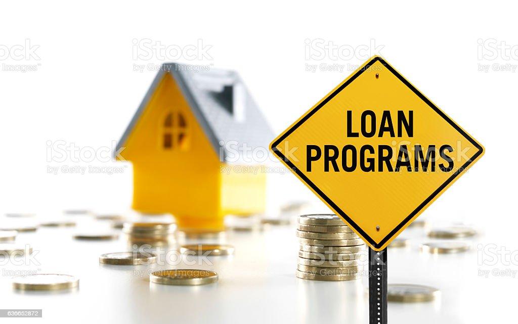 Loan programs stock photo