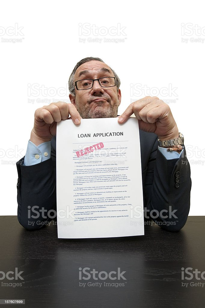 Loan rejected royalty-free stock photo
