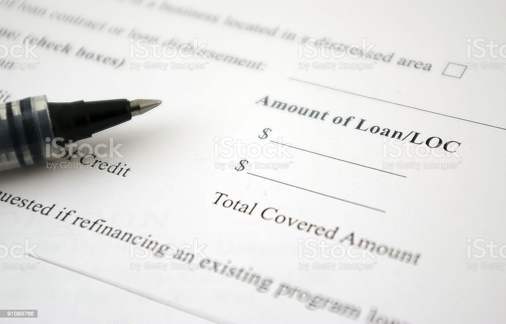 Loan Request Form royalty-free stock photo