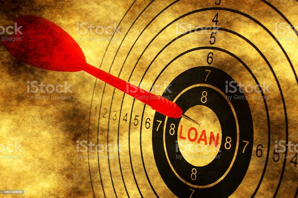 Loan target concept on grunge background stock photo