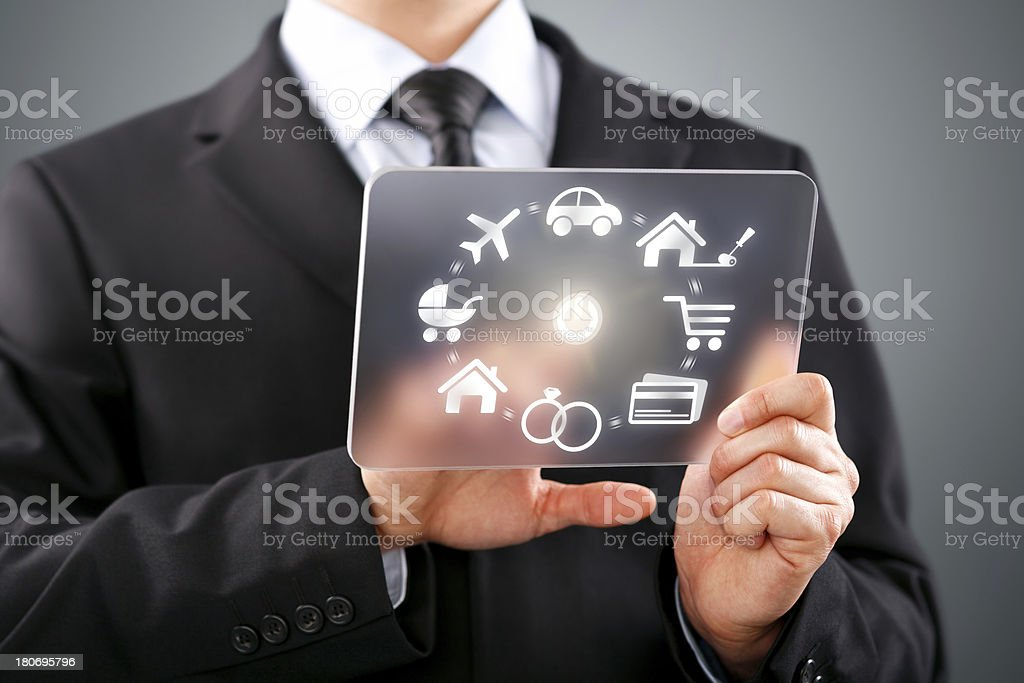 Loan Touch Screen Concept stock photo