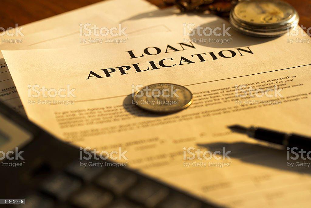 Loans Application stock photo