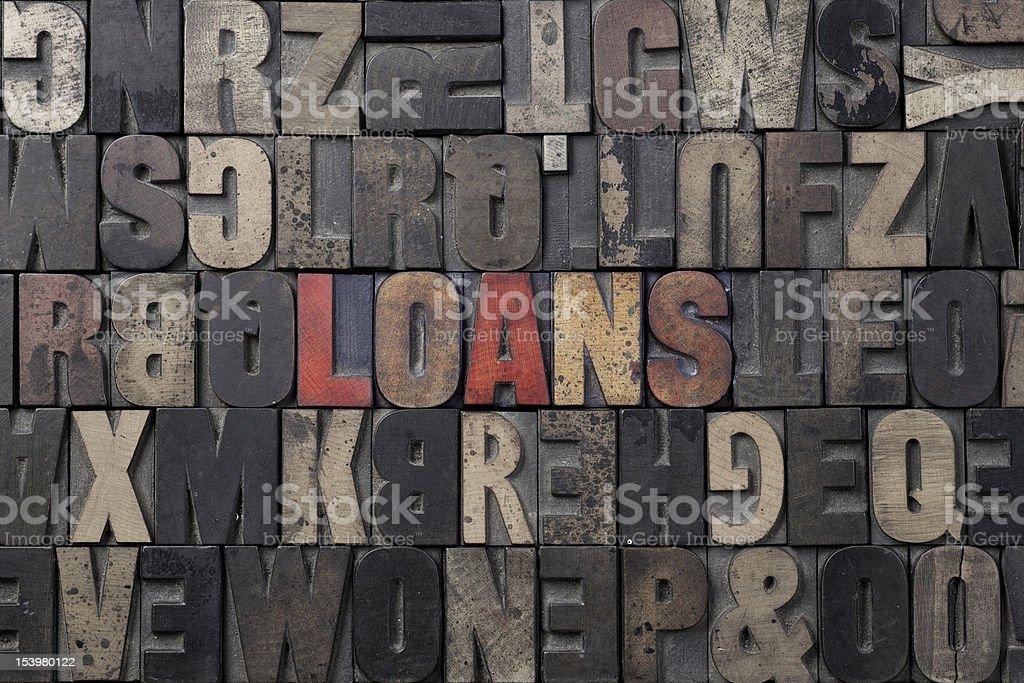 Loans royalty-free stock photo