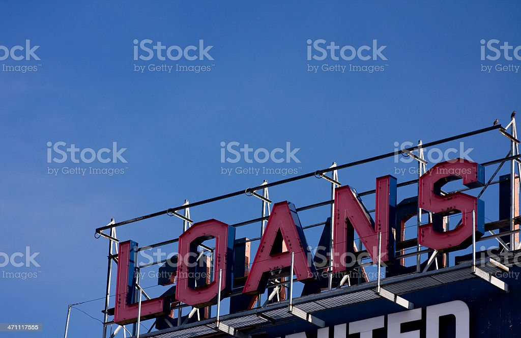 Loans Sign royalty-free stock photo