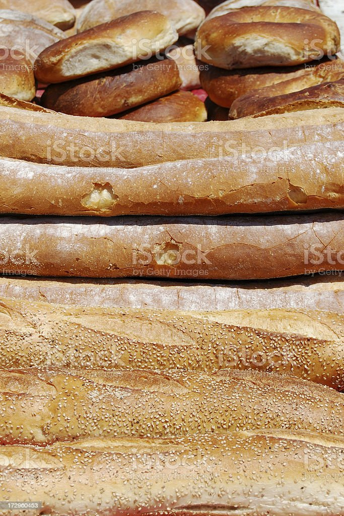 Loaves Of Crusty Bread royalty-free stock photo