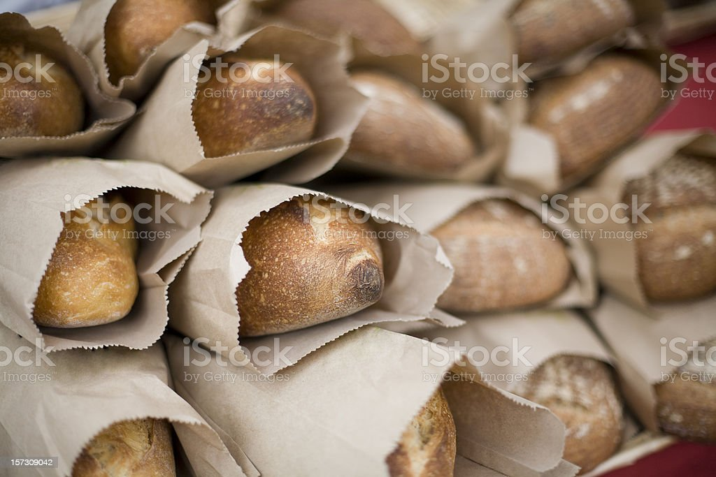 Loaves of fresh bread royalty-free stock photo
