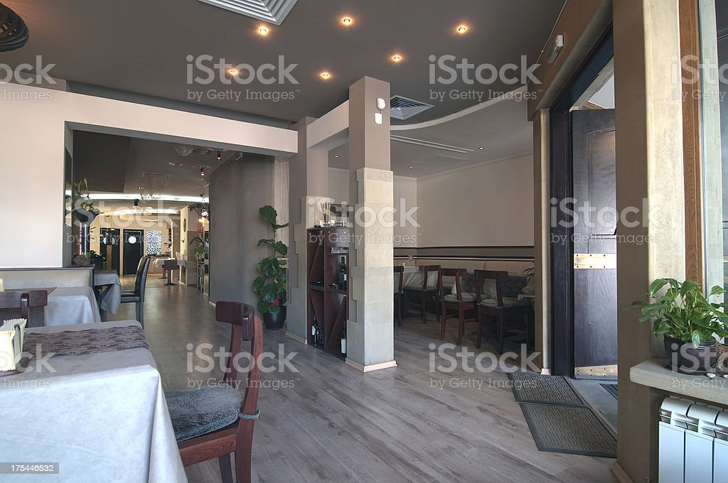 Lobby Restaurant stock photo