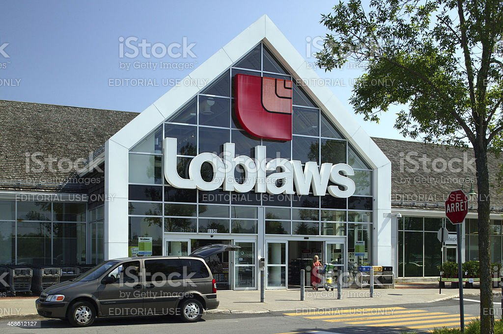 Loblaws grocery store facade stock photo