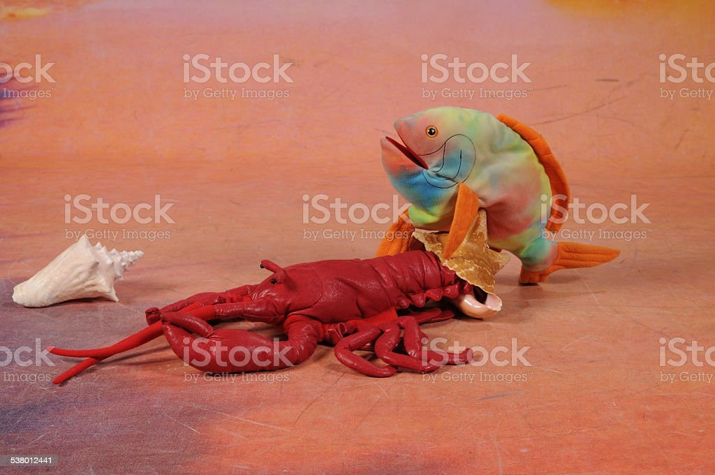 Lobster and Fish stock photo