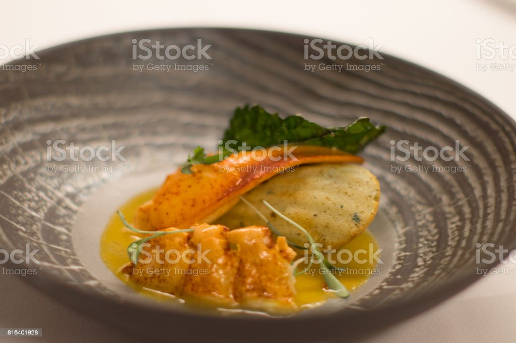 Lobster appetizer stock photo