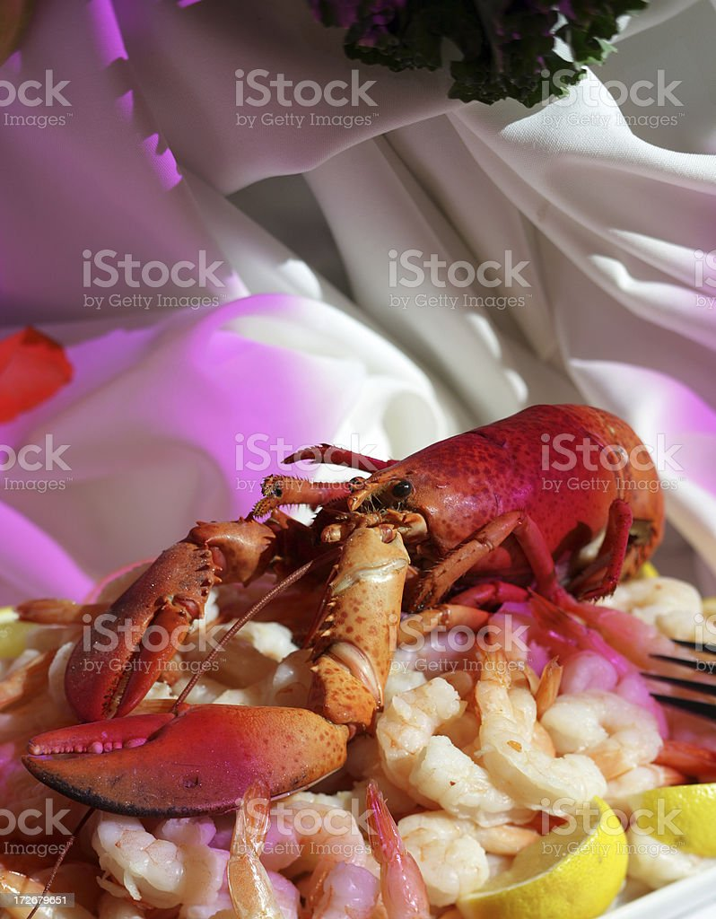 Lobster at night stock photo