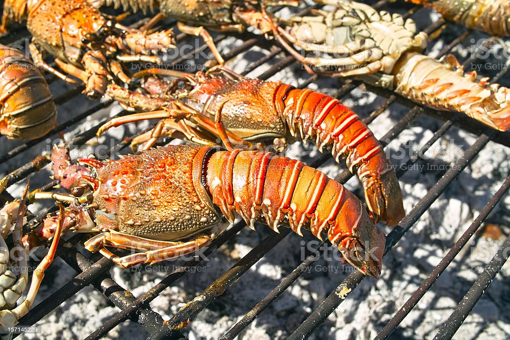 lobster barbecue royalty-free stock photo