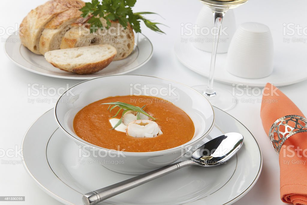 Lobster Bisque stock photo